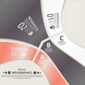 Moderna formgivningsmall infographic. numrerade banners. — Stockvektor