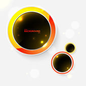 Abstract background with black bubbles. Vector illustration for your business presentation. — Stock Vector
