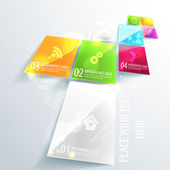 Modern business infographic design. Use for presentation. — ストックベクタ