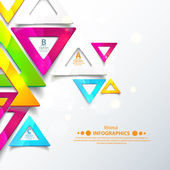 Abstract geometric triangles. Vector illustration for your business presentation. Cutout lines and other design elements. — Stock Vector