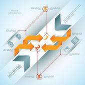 Nowoczesny biznes steb origami styl opcje transparent. — Wektor stockowy