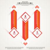 Banner di business moderno circolo origami stile opzioni. — Vettoriale Stock