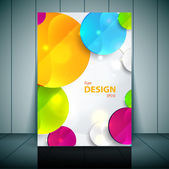 Colorful 3D circles - Business Flyer Template Vector Design — Stock Vector