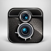 Vintage photo camera icon. Vector illustration — Stockvektor
