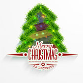 Vector Christmas Messages and objects on wrinkled paper background. Elements are layered separately in vector file. — Stock Vector