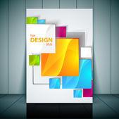 Vector Fashion brochure, flyer, magazine cover & poster template — Stock Vector