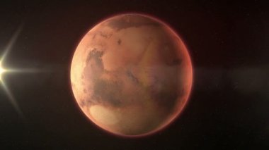 The planet Mars — Stock Video