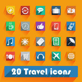 Office and business Travel flat icons for Web and Mobile Applications — Vector de stock