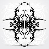 Tribal tattoo. Vector illustration. — Stock Vector