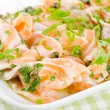 Salmon carpaccio appetizer — Stock Photo