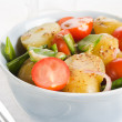 Potato salad with cherry tomatoes and snow peas — Stock Photo