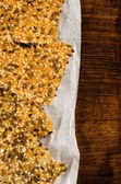 Homemade crisp bread with seeds — Stock Photo