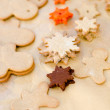 Baking christmas cookies — Foto Stock