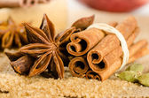 Assortment of spices for christmas — Stock Photo