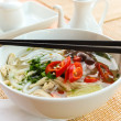 Asian chicken rice noodle soup — Stock Photo #39631017