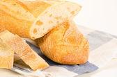 Plastry francuskiej bagietki — Zdjęcie stockowe