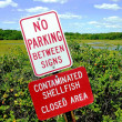 Contaminated shellfish warning — Stock Photo