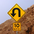 Mountain road sign  — Stock Photo