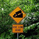 Mountain road sign — Stock Photo