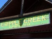 Cripple Creek sign — Stock Photo