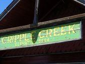 Cripple Creek sign — Stock Photo