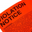 Violation parking ticket — Stock Photo