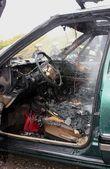 Automobile fire — Stock Photo