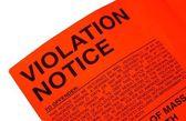 Violation parking ticket — Stock Photo