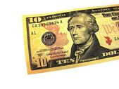Ten dollar bill — Stock Photo