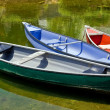 Stock Photo: Three canoes