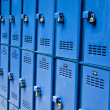 Stock Photo: Blue lockers