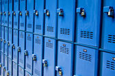 Blue lockers — Foto de Stock