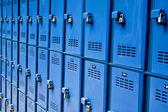 Blue lockers — Stockfoto