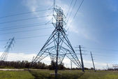 Utility Line Tower — Stock Photo
