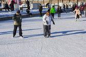 A beginner ice skater — Stock Photo
