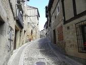 Narrow street upward. — Stock Photo