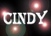 Name: Cindy. — Stockfoto