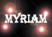 Frau Name: Myriam. — Stockfoto