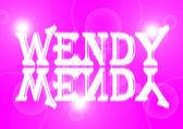 Woman name: Wendy. — Stock Photo