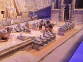 Sphynxes avenue in Luxor temple in miniature. — Stock Photo