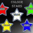 Stock Photo: Colour stars.