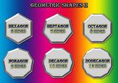 Geometrische vormen. — Stockfoto