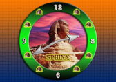 Sphinx clock. — Stockfoto