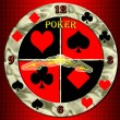 Poker clock. - Foto Stock