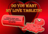 Love tablets. — Stock fotografie