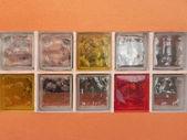 Tijolos de vidro. — Foto Stock