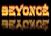 Woman name: Beyoncé on fire. — Stock Photo