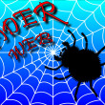 Black spider. — Stock Photo