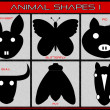 Stock Photo: Animal shapes.