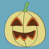 Cadılar bayramı balkabağı nokta deseni ile — Stok Vektör